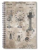 1920 Clock Patent Spiral Notebook