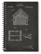 1920 Lincoln Log Cabin Patent Artwork - Gray Spiral Notebook