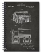 1920 Lincoln Logs Patent Artwork - Gray Spiral Notebook
