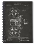 1920 Motion Picture Machine Patent Gray Spiral Notebook