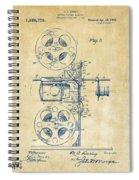 1920 Motion Picture Machine Patent Vintage Spiral Notebook