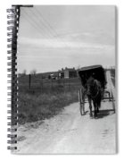 1920s 1930s Amish Man Driving Buggy Spiral Notebook