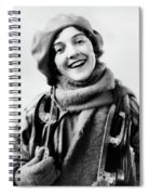 1920s 1930s Smiling Woman Dressed Spiral Notebook