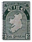 1922 Ireland Eire Stamp Spiral Notebook