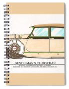 1923 Hispano Suiza Club Sedan By R.h.dietrich Spiral Notebook