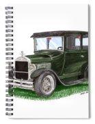1926 Ford Tudor Sedan Street Rod Spiral Notebook