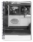 1928 Chevy Half Ton Pick Up In Black And White Spiral Notebook