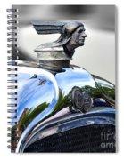 1928 Pontiac Hood Ornament And Badge Spiral Notebook