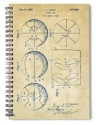 1929 Basketball Patent Artwork - Vintage Spiral Notebook