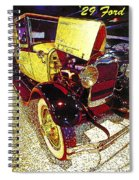 1929 Ford Digital Art Spiral Notebook