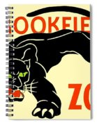 1930 - Brookfield Zoo Poster - Boston - Color Spiral Notebook