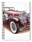 1930 Dusenberg Model J Spiral Notebook