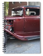 1930 Ford Two Door Sedan Side View Spiral Notebook