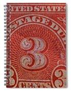 1930 Three Cents Postage Due Stamp Spiral Notebook