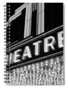 1930s 1940s Theater Marquee Theatre Spiral Notebook