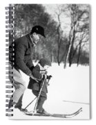 1930s Father & Son Man Wearing Jacket Spiral Notebook