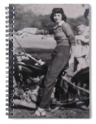 1930's Indian Motorcycle Mama Spiral Notebook