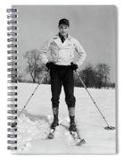 1930s Man Looking At Camera Posing Spiral Notebook