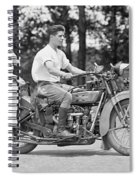 1930s Motorcycle Touring Spiral Notebook