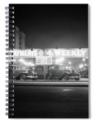 1930s New And Used Car Lot At Night Spiral Notebook
