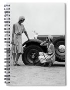 1930s Two Women Confront An Automobile Spiral Notebook