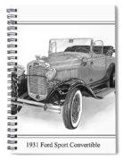 1931 Ford Convertible Spiral Notebook