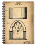 1931 Philco Radio Patent Spiral Notebook