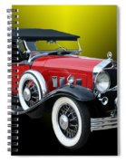 1931 Willys Knight Plaid Side Spiral Notebook