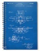 1932 Amphibian Aircraft Patent Blueprint Spiral Notebook