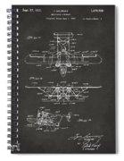 1932 Amphibian Aircraft Patent Gray Spiral Notebook