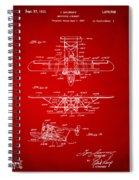 1932 Amphibian Aircraft Patent Red Spiral Notebook