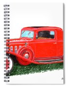 1932 Cadillac Rumbleseat Coupe Spiral Notebook