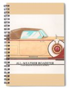 1932 Packard All Weather Roadster By Dietrich Concept Spiral Notebook