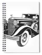 Cadillac Victoria V 16 Convertible Spiral Notebook