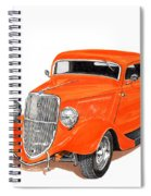 1933 Ford Three Window Coupe Spiral Notebook