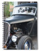 1933 Ford Two Door Sedan Front And Side View Spiral Notebook