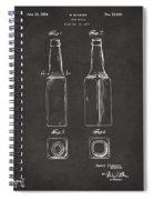 1934 Beer Bottle Patent Artwork - Gray Spiral Notebook