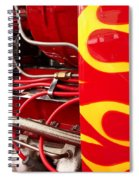 Hot Rod Art Work And Engine Spiral Notebook