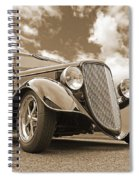 1934 Ford Coupe In Sepia Spiral Notebook