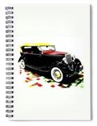 1934 Ford Phaeton V8  Spiral Notebook