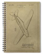 1934 Mail Plane Patent Spiral Notebook