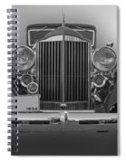 1934 Packard Black And White Spiral Notebook