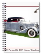 1934 Packard Twelve 1107 Coupe Spiral Notebook