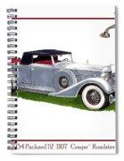 1934 Packard Twelve 1107 Coupe Spiral Notebook