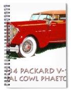 1934 Packard V-12 Dual Cowl Phaeton Spiral Notebook