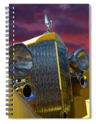 1934 Packard With Posterized Edge Texture Spiral Notebook