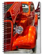 1935 Orange Ford-front View Spiral Notebook
