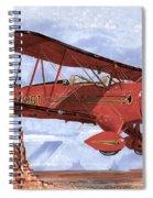 Monument Valley Bi-plane Spiral Notebook