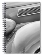 1936 Ford Cabriolet Bw Spiral Notebook