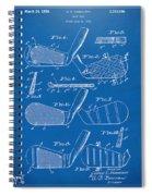 1936 Golf Club Patent Blueprint Spiral Notebook